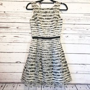 Taylor Black and White 50's Inspired Dress